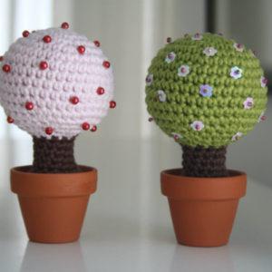 crochet small tree home decoration