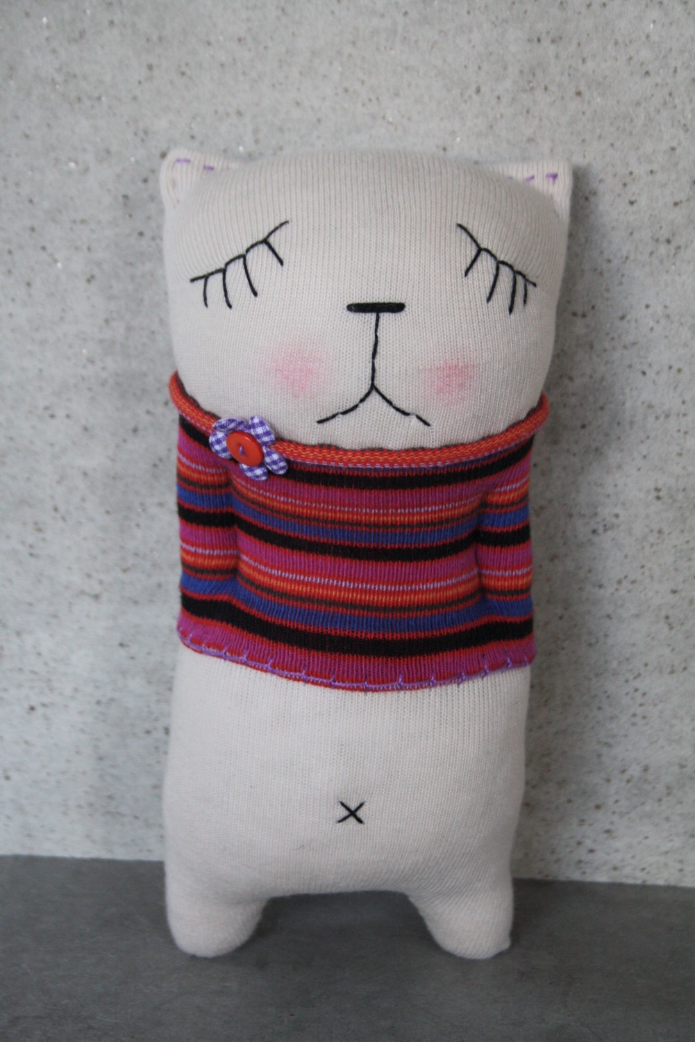 handmade sock cat