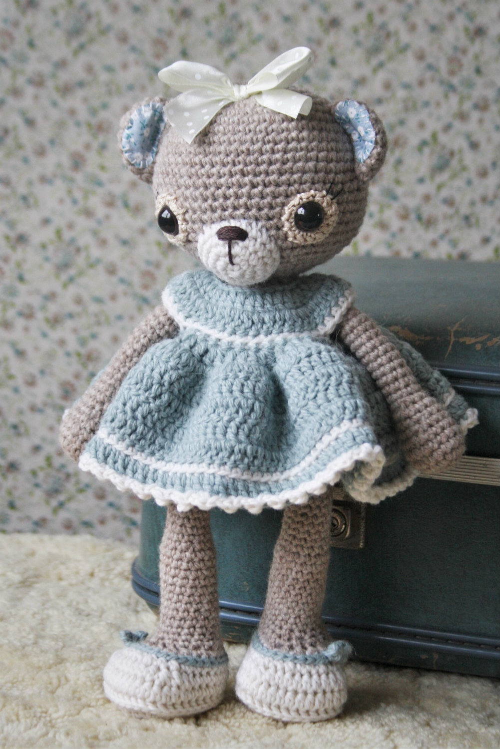 Crochet Bear PATTERN - Amigurumi Crochet Toy Pattern - Little ... | 1500x1001