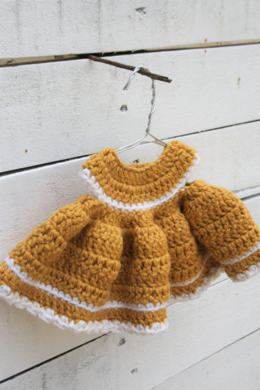 crochet teddy bear dress