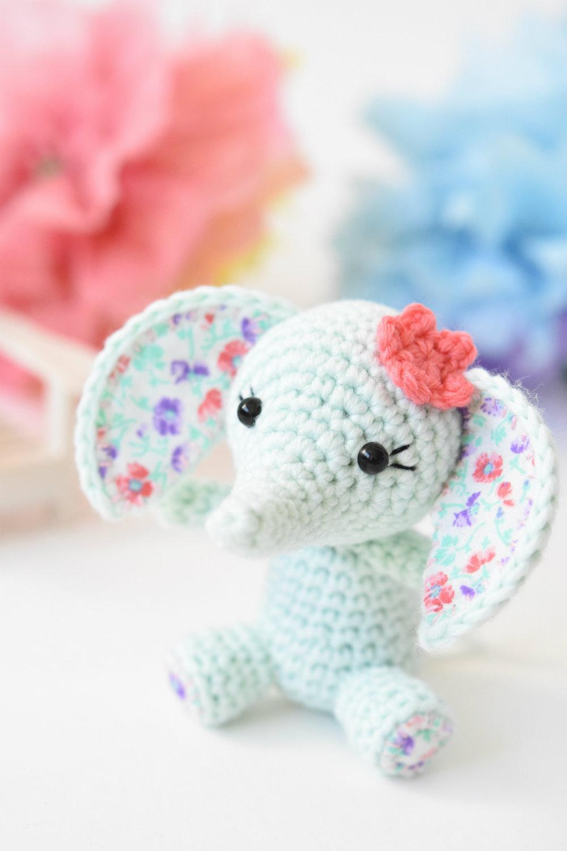 Tiny Luck Elephant Easy Amigurumi Crochet Pattern
