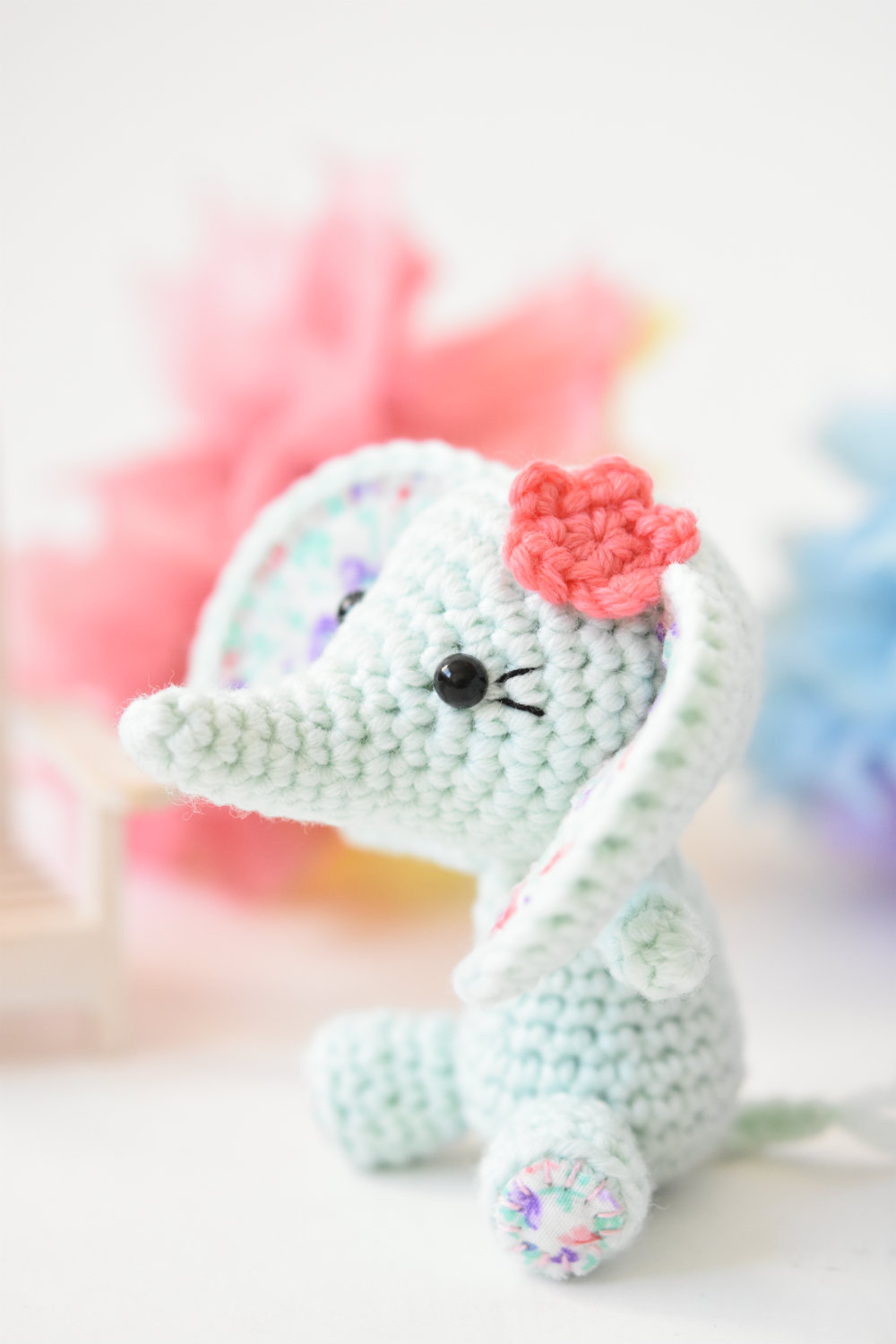 Tiny Luck Elephant Easy Amigurumi Crochet Pattern