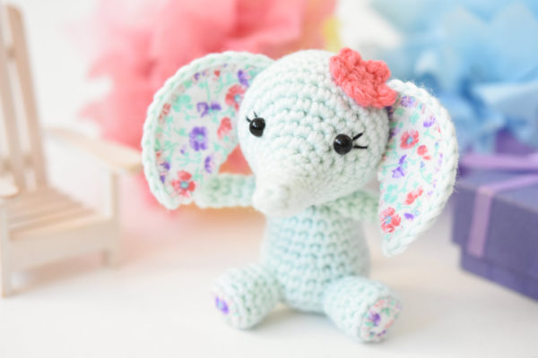 tiny luck elephant amigurumi pattern