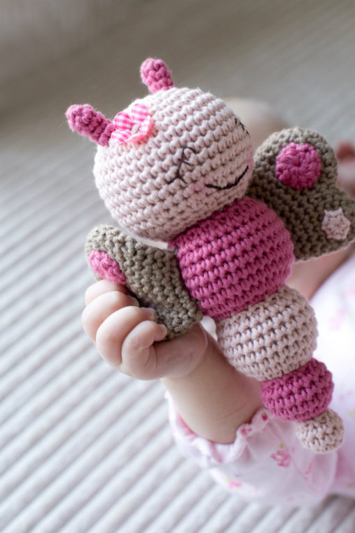 amigurumi pattern butterfly rattle