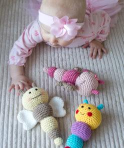 amigurumi pattern bug rattles