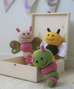amigurumi bug rattles