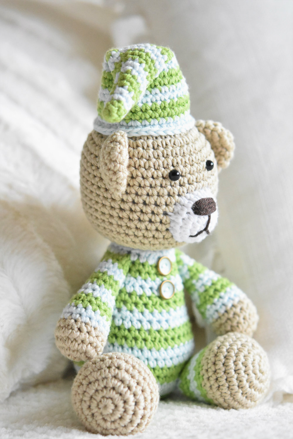 Amigurumi Pajamas Teddy Crochet Teddy Bear Pattern