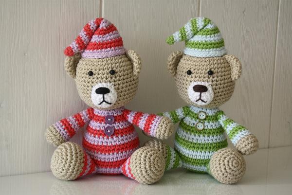 teddy bear with pajamas amigurumi pattern
