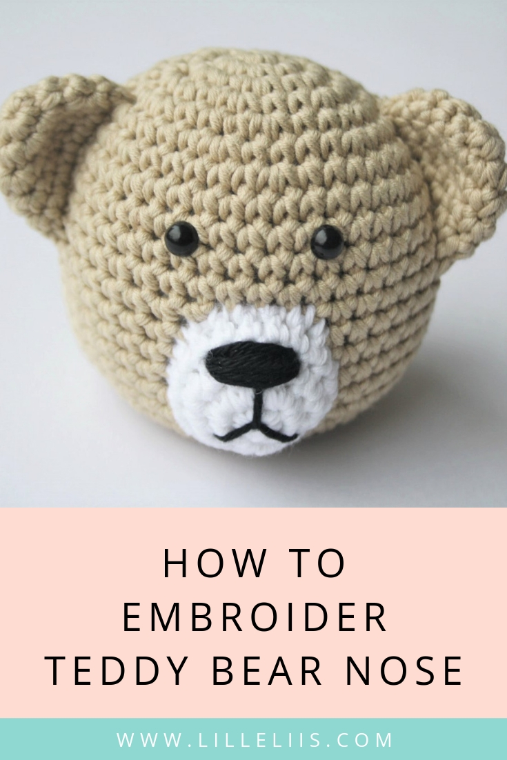 How to stitch teddy bear nose | amigurumi and crochet