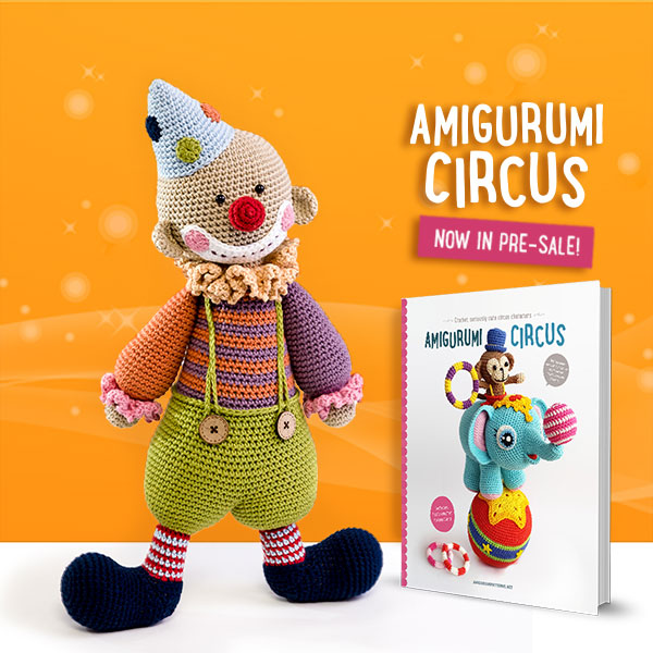chatterbox clown amigurumi circus book