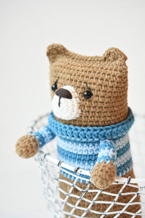 lazybones bear amigurumi pattern