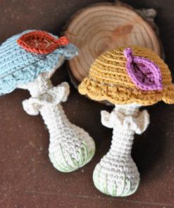 amigurumi mushroom rattle pattern