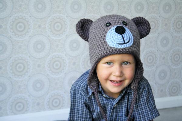 crochet pattern teddy bear hat