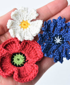 crochet field flowers pattern