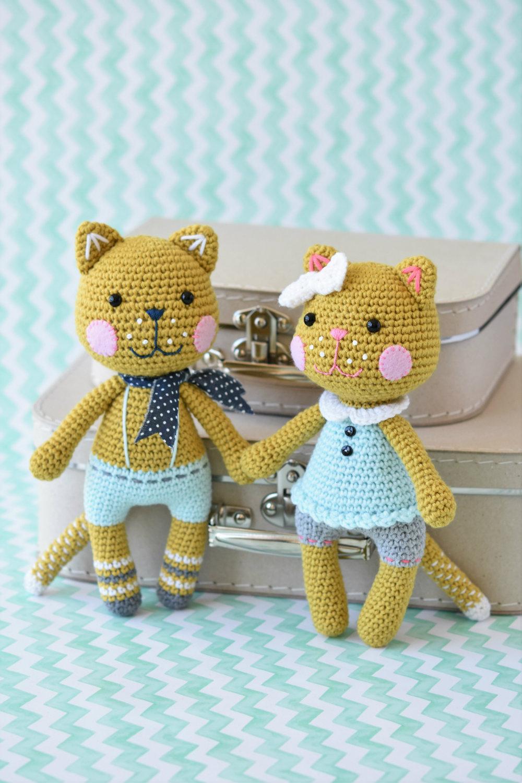 Pixie the cat amigurumi pattern crochet toy | 1500x1000