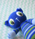 crochet striped cat toy