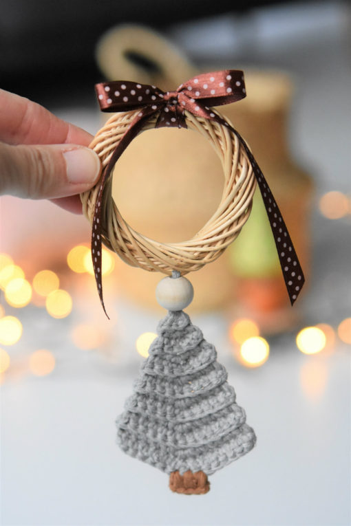 crochet tree ornament