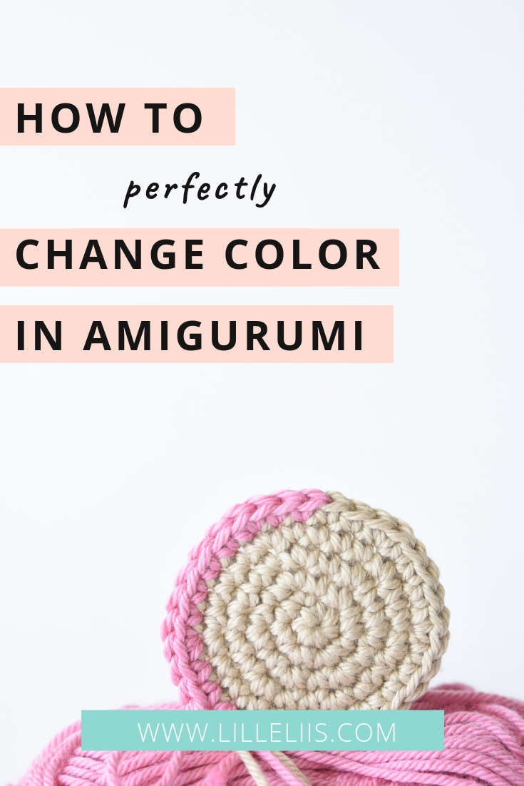 how to change color in amigurumi