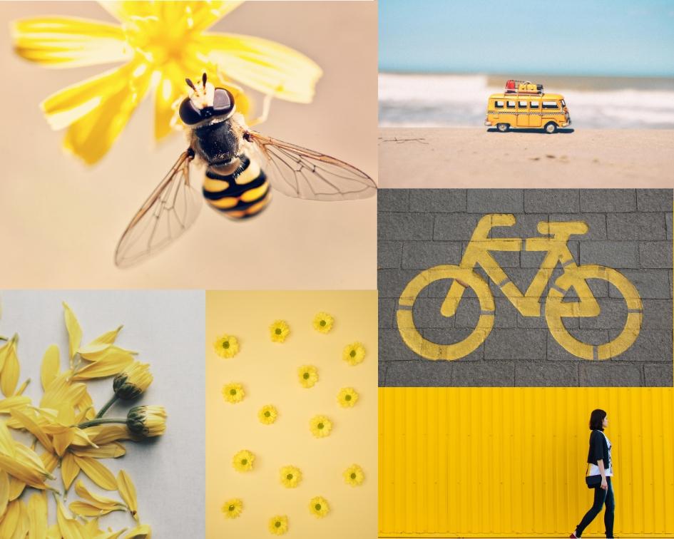 inspiratsiooni tahvel kollane
