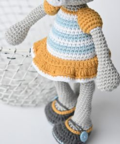 amigurumi cat striped dress