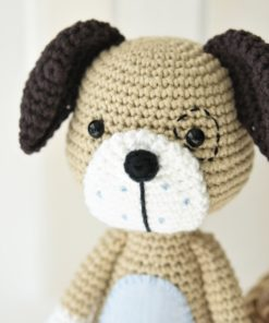 amigurumi dog face freckles