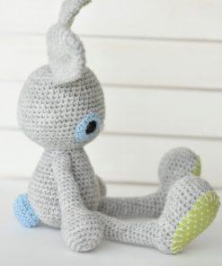 crochet bunny profile view