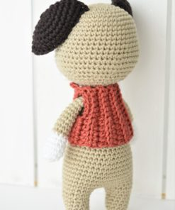 amigurumi puppy back view