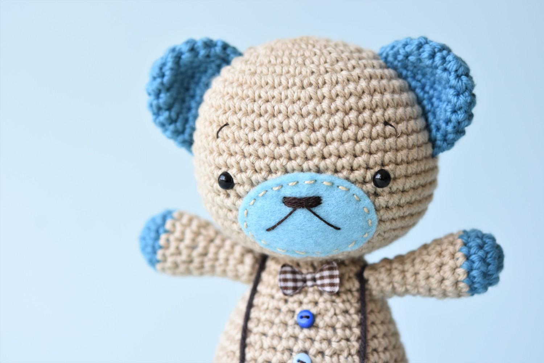 How To Make A Cute Small Crocheted Teddy Bear - DIY Crafts ... | 1000x1500