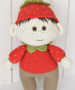 amigurumi doll strawberry costume