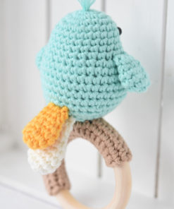 amigurumi bird tail