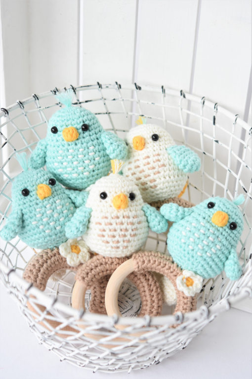 crochet bird rattles for babies