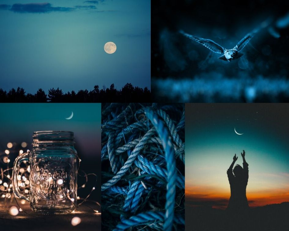 night sky blue inspiration board