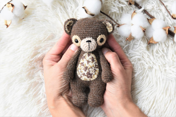 treasure the teddy crochet bear