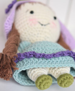 thumbelina inspired crochet doll