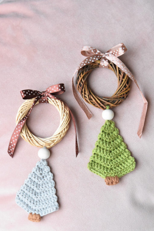 crochet christmas tree ornament pattern
