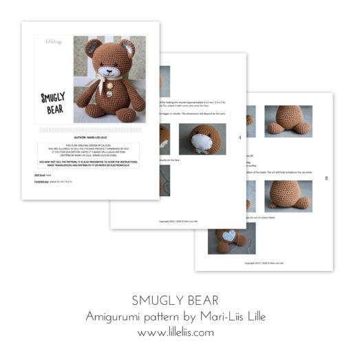 smugly bear amigurumi pattern