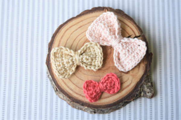 little crochet bows free pattern