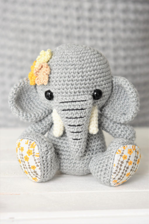 crochet elephant toy
