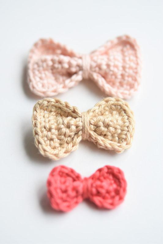 little crochet bow free pattern
