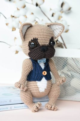 amigurumi french bulldog