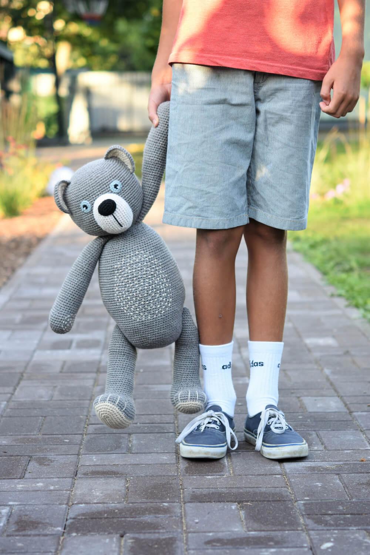 crochet giant teddy bear