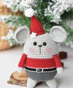 amigurumi santa mouse free pattern