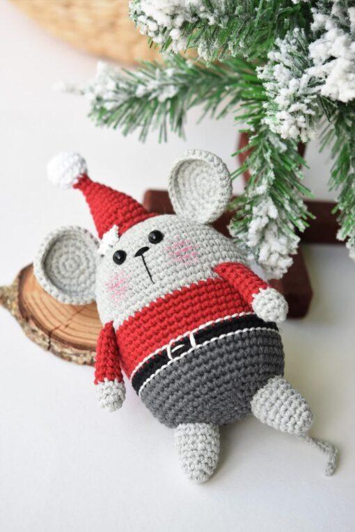 amigurumi jõuluvana hiir tasuta muster