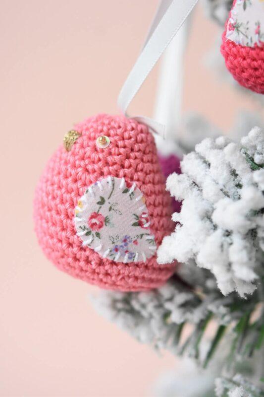 crochet dove christmas ornament