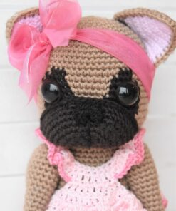 crochet french bulldog toy